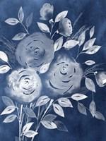 Cyanotype Roses I Framed Print