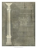 Column Blueprint I Fine Art Print