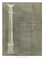 Column Blueprint II Fine Art Print