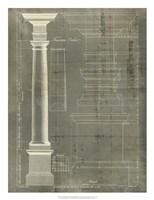 Column Blueprint III Fine Art Print