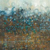 Blue and Bronze Dots Fine Art Print