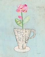 Teacup Floral III on Print Fine Art Print