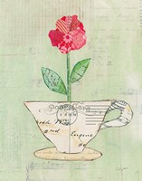 Teacup Floral I on Print Framed Print