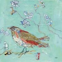 Aqua Bird Fine Art Print