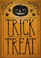Vintage Halloween Trick or Treat Fine Art Print