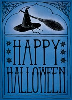 Vintage Halloween Happy Halloween Framed Print