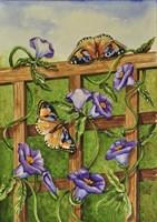Monarchs & Hydrangeas Fine Art Print
