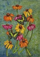 Monarchs & Sunflowers Fine Art Print