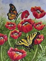Monarch and Swallowtail Fine Art Print