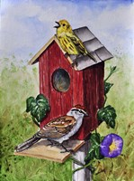 Chipping Sparrow and Yellow Warbler Fine Art Print