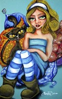 Alice In Ugg Boots Fine Art Print