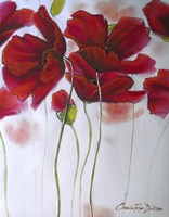 Red Poppies on White Fine Art Print