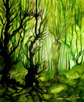 The Lady Of The Forest Fine Art Print