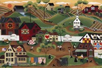 Amish Quilt Village Fine Art Print