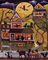Halloween School of Witchcraft Fine Art Print