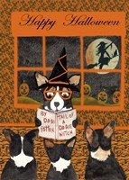 Halloween Tail of Dogie Witch Fine Art Print