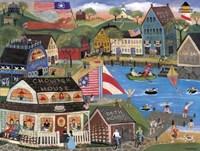 Summertime Spirit Village Fine Art Print