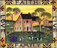 Faith Family Live Love Lang Fine Art Print