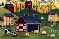 Sunrise Red Quilt Barn Fine Art Print