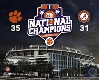 Clemson Tigers 2016 National Champions Stadium Fine Art Print