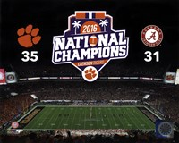 Clemson Tigers 2016 National Champions Fine Art Print
