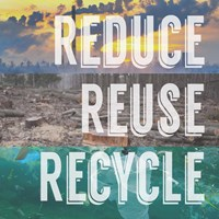 Reduce Reuse Recycle Fine Art Print