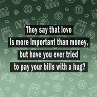 Love vs. Money Fine Art Print