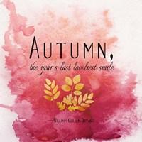 Autumn, the Year's Last Loveliest Smile II Fine Art Print
