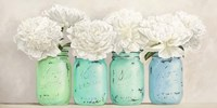 Peonies in Mason Jars (detail) Fine Art Print