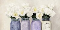 Tulips in Mason Jars (detail) Fine Art Print