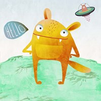 Alien Friend #4 Fine Art Print
