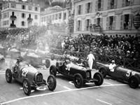 Le depart du Grand Prix de Monaco 1932 Fine Art Print