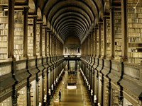 Interior of the Library, Trinity College, Dublin Framed Print