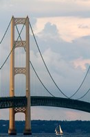 Mackinac Bridge on a Clear Day Fine Art Print