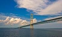 Blue Skies over the Mackinac Bridge Fine Art Print