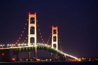 Mackinac Bridge at Night Fine Art Print