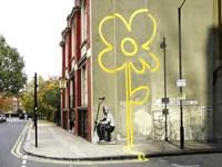 Pollard Street, London (graffiti attributed to Banksy) Fine Art Print