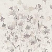 Garden Shadows IV Purple Grey Fine Art Print