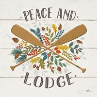 Peace and Lodge IV Framed Print