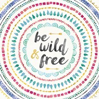 Wild and Free I Framed Print