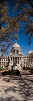 Statue outside a Government Building, Mississippi State Capitol, Jackson, Mississippi Fine Art Print