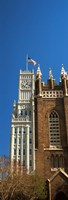 Clock tower, Lamar Life Building, St. Andrew's Church, Jackson, Mississippi Fine Art Print
