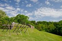 Battlefield bunker, Vicksburg National Military Park, Mississippi Fine Art Print