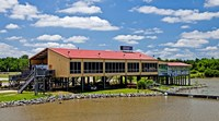 Local Restaurant in Columbus, Tombigbee Waterway, Mississippi Fine Art Print