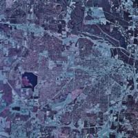 Satellite view of Jackson, Mississippi Fine Art Print