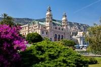 Gardens surround Monte Carlo Casino, Monaco Fine Art Print