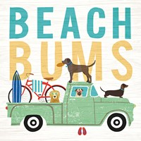 Beach Bums Truck I Square Framed Print