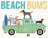 Beach Bums Truck I Framed Print