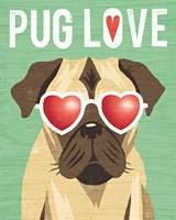 Beach Bums Pug I Love Fine Art Print