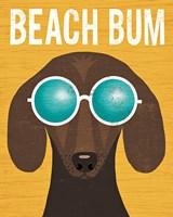 Beach Bums Dachshund I Bum Fine Art Print
